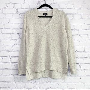 Topshop   Speckled Cream Knit Oversized Sweater